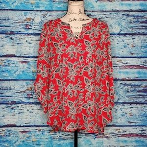 Faded Glory 2XL Red Blouse